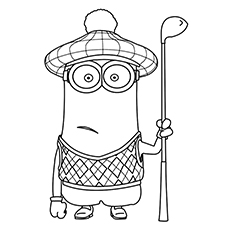 Minion Kevin Coloring Sheet To Print