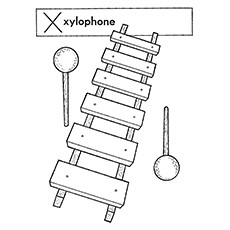 Xylophone Coloring Page - Khmer
