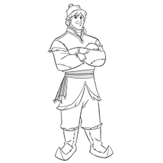 Character Kristoff of Frozen Coloring Pages