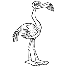 flamingo coloring pages lawn flamingo