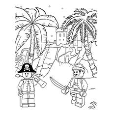 pirate coloring pages lego pirates - Pirate Coloring Page