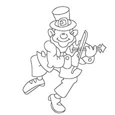 Leprechaun Playing Violin