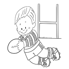 Little Rugby Player