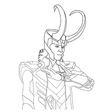 Avengers Character Loki Coloring Pages