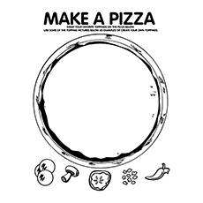 Coloring Page Pizza Slice | Coloring Page