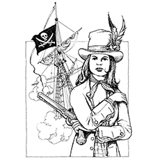 Pirate Coloring Pages - Mary Read