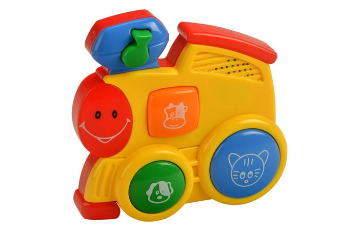 Mee Mee Four Musical Playthings Train Engine, Multi Color 13