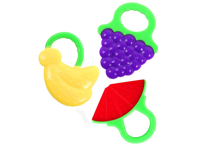 Microcosm Baby Teething Relief Toys with Fruit Design