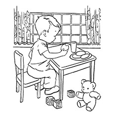 Cookie Coloring Pages - Milk And Cookies