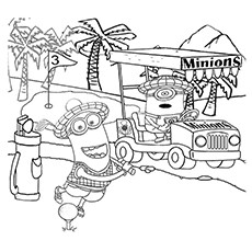 Golf Coloring Pages - Minions Playing Golf