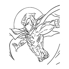 Free Printable Avengers Series Character Name Moon Knight Coloring Pages