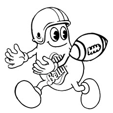 Rugby Coloring Pages - Mr. Jelly Belly Playing Rugby