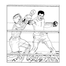 boxing coloring pages muhammad ali