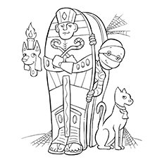top 10 ancient egypt coloring pages for toddlers - Ancient Egypt Mummy Coloring Pages