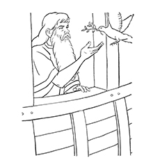 Dove Coloring Page - Noah And The Dove