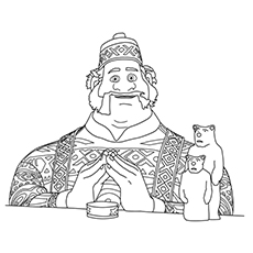 Frozen Oaken Sitron Coloring Pages