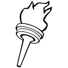 olympic torch coloring pages