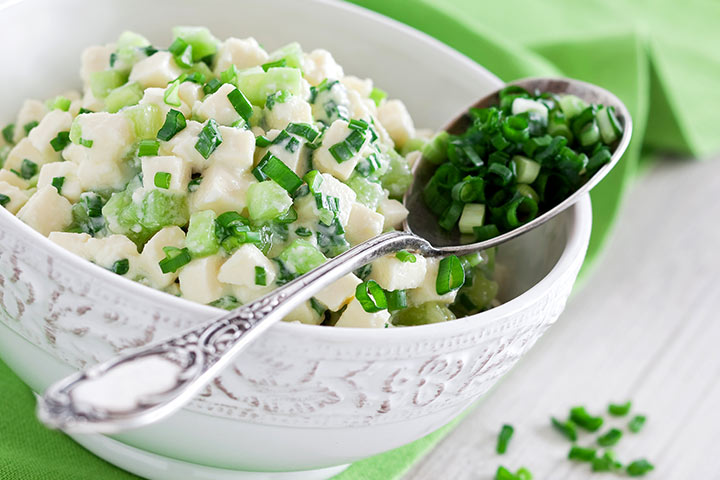 Paneer Recipes For Kids - Paneer And Cucumber Salad