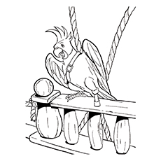 Pirate Coloring Pages - Parrot Pirate
