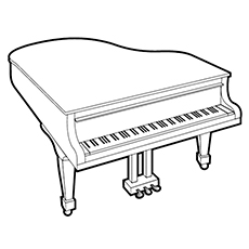 Piano Coloring Pages - Petite Grand Piano
