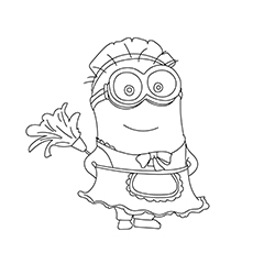 Phil Dressed as Maid coloring pages