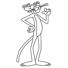 Panther Coloring Pages - Pink Panther