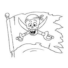Pirate Coloring Pages - Pirate Flag