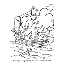 Pirate Coloring Pages - Pirate Ship