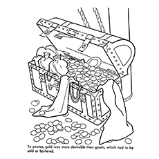 Pirate Coloring Pages - Pirate Treasure