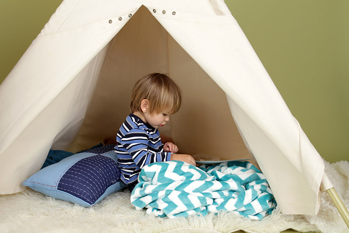 Rainy Day Activities For Kids - Pitch a tent in the backyard