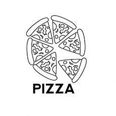 Pizza Coloring images