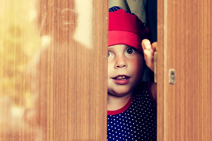 Rainy Day Activities For Kids - Play hide and seek