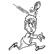 Rugby Coloring Pages - Player Going Bonkers