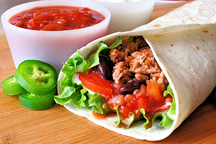 Portobello And Black Bean Burritos