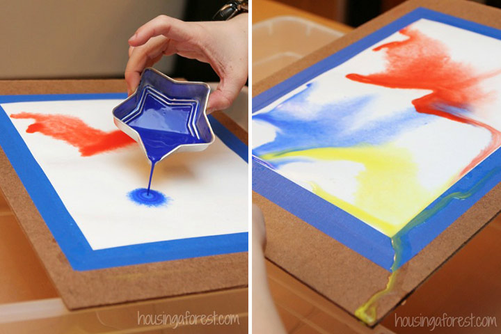 Painting For Kids - Pour Painting Using Water Colors