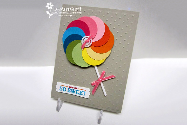 Wonderful Card Making Ideas For Children Part - 5: Childrens Day Card U0026 Craft Ideas - Punch Art Lollipop Card