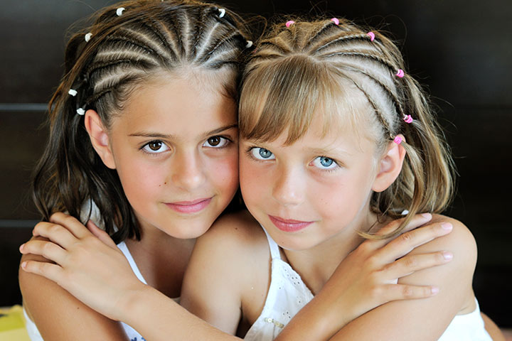 Hairstyles For Kids With Long Hair - Quadruple Twist Hairstyle