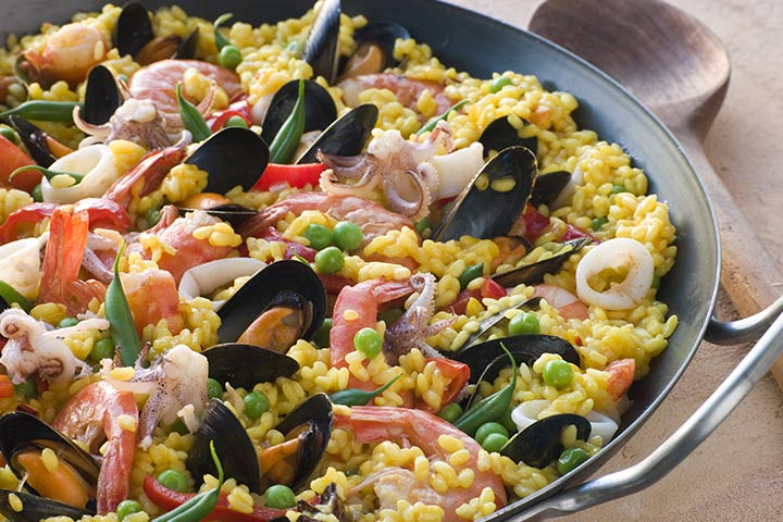 Mussels While Pregnant - Quick Paella With Mussels And Shrimp