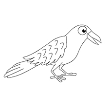 Crow Coloring Page - Raven