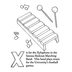 xylophone coloring page red coat marching band xylophone