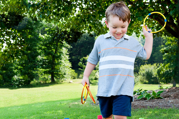 Spring Activities For Kids - Ring Toss