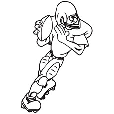 Rugby Coloring Pages - Rugby Goalkeeper