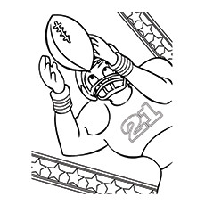Rugby Coloring Pages - Rugby Player
