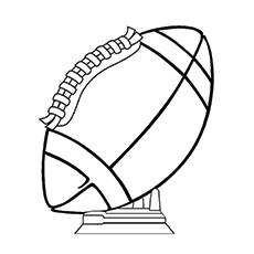 Rugby Coloring Pages - Rugby Trophy