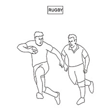 Rugby Coloring Pages