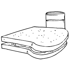 Sandwich Bread Coloring Page