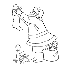 Frosty The Snowman Coloring Pages - Santa Claus