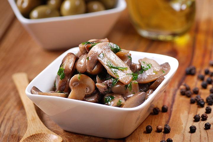 Vitamins While Breastfeeding - Sautéed Mushrooms