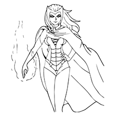 avengers character scarlet witch coloring pages - Black Widow Marvel Coloring Pages