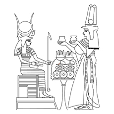 sekhmet warrior goddess sphinx mythological creature coloring sheet - Ancient Egypt Mummy Coloring Pages